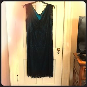 Summer Dress.  Lane Bryant Lace and Satin.  Belt